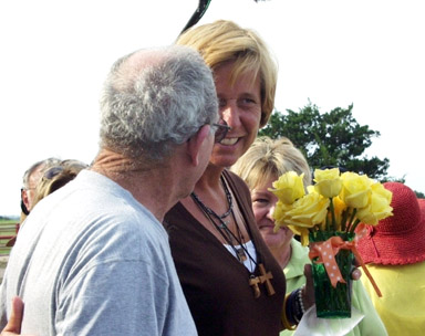 Cindy Sheehan, Crawford, TX, 16Aug05