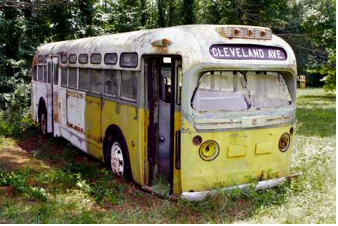 The real bus where Rosa Parks refused to give up her seat