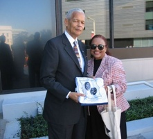 Marsha Joyner and Julian Bond @ SPLC Civil Rights Memorial