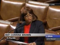 Representative Corrine Brown (Dem-Forida) on House Floor