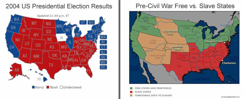 Not Conservative Reactionary - Map Of Us Before Civil War