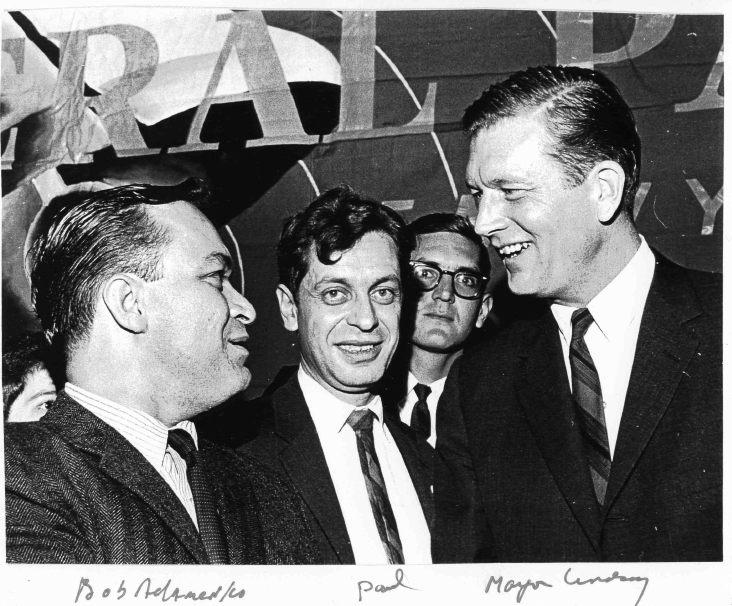 Robert Adamenko, Paul Greenberg, John Lindsay, 1965